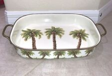Palm Grove Handled Serving Tray By Tabletops Unlimited New