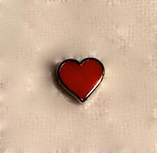 Linx & More Red Heart Enamel Rhodium Plated Floating Charm for Locket
