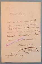 L.A.S 1845 Louis ULBACH (Ferragus) écrivain journaliste né à TROYES à Cazelles