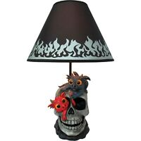 Mischief & Magic Gothic Skull Dragons Table Lamp Home Decor Figurines 20""