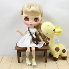 1/6 Trendy Sleeveless Dress & Bear Shoulder Bag for 12'' Blythe Doll Clothes