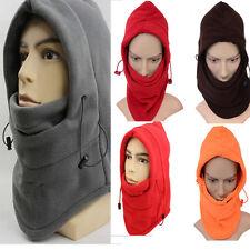 Mens Winter Fleece Thermal Balaclava Ski Snood Hood Neck Warmer Fashion Hat
