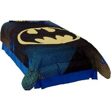 3pc BATMAN TWIN COMFORTER SHAM SET - DC Comics Great Gotham Superhero Bedding