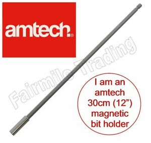 """Magnetic Bit Holder 300mm 12"""" Extra Long Screwdriver 1/4"""" Hex Drill Extension"""