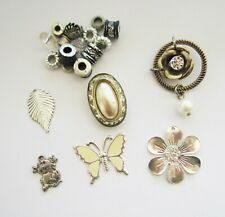20g Vintage Antiqued Silver Charm Spacer Bead Mix - Butterfly, Flowers etc
