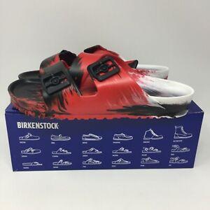 Birkenstock Arizona EVA Sandals Men's 9 M Regular Fit Red Black White 1019083