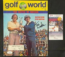 New listing 1975 JULY GOLF WORLD MAGAZINE HAND SIGNED TOM WATSON W/JSA/COA GREAT COND!!!