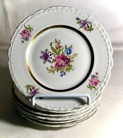 """6 Royal Jackson Scalloped Edge Deanna 6 1/4"""" Bread And Butter Plates"""