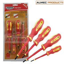 Vde Insulated Screwdriver 4pc Set For Professional Electricians Draper 64693