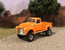 1950 Chevy Pickup 4x4 Lifted Custom 1/64 Diecast Truck Farm Off Road Mud 4WD