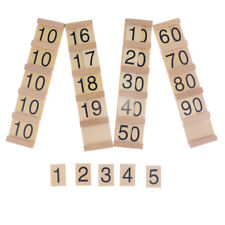 Wooden Montessori Board Counting Number Maths Preschool Kids Educational Toy