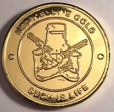 """New Ned Kelly """"Such Is Life"""" Coin/token or card weight, 999 Gold HGE Outlaw"""