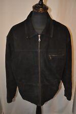 Vintage David Conrad black suede biker western jacket in size large trucker