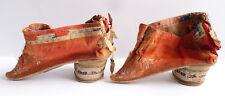 petites chaussures en soie 19e siècle Chine China pieds bandés shoes