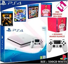 Sony PlayStation 4 Slim - 500GB - Consola de Sobremesa - Glacier White