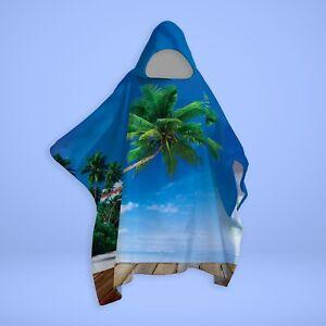 Beach Scene - SNUGAROO Hooded Fleece Poncho