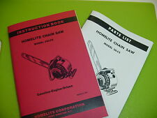Homelite Chainsaw 26 Lcs Instruction Book Manual With Parts List - Box550Ab