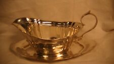 Reed and Barton Sterling Silver Gravy Boat and Under Plate, Dublin #600