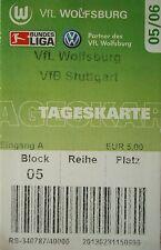 TICKET 2005/06 VfL Wolfsburg - VfB Stuttgart