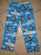 DISNEY PAJAMA BOTTOMS Ice Skating MICKEY MOUSE Minnie Donald Duck Snowball Fight