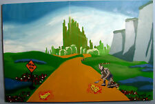 Original WIZARD OF OZ Painting on canvas banksy invader brainwash fairey