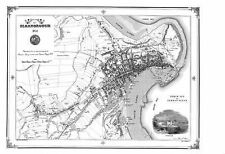 Map of Scarborough, 1852 by Peter J. Adams (Sheet map, folded, 1998)