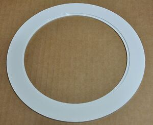 """6"""" INCH RECESSED CEILING CAN LIGHT OVER SIZE PLASTIC TRIM RING WHITE 09-6TOS"""