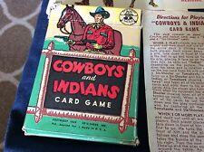 VINTAGE 1949 COWBOYS & INDIANS CARD GAME by ED-U-CARDS