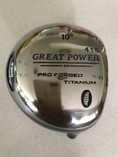 Great Big Power 9° Deg Titanium Driver Golf Club Component Head 860 Illegal Cor