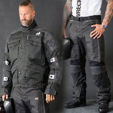 Motorbike Motorcycle Cordura Textile Jacket/pant CE Approved Armours Black Alive Jacket Pants 2xl