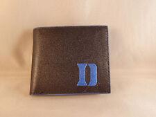 Duke Blue Devils Mens Black With Blue Trim Leather Bi-fold Wallet