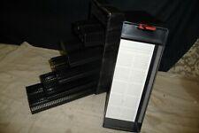 Slide projector cassette trays X10 +box takes 500 slides FOR LEITZ black