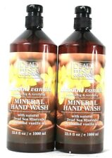 2 Bottles Dead Sea Collection 33.8 Oz Almond Vanilla Soothing Mineral Hand Wash