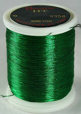 Gudebrod Rod Building Thread 1 Oz Spool GREEN #9358 HT Metallic Size A or D