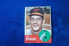 1963 TOPPS BALTIMORE ORIOLES WES STOCK # 438