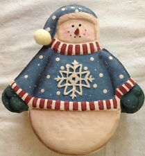 Debbie Mumm 2000 Visions Of Christmas Paper Mâché Snowman Box Rare Boxed