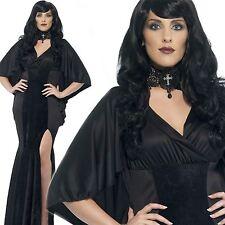 Ladies Curves Vamp Vampire Halloween Fancy Dress Costume Plus Size