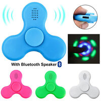 Fidget Spinner with LED Light Bluetooth Speaker Relieve Stress Hand Spinner Toy