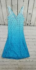 Guess Collection Teal Lined Fishnet Lace Dress WOMENS SIZE M