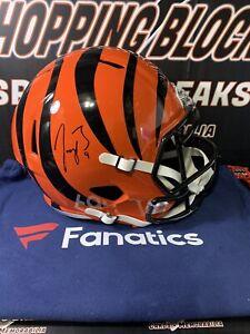 Joe Burrow Signed Full Size Replica Helmet Fanatics Cert CINCINNATI BENGALS