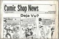 Comic Shop News #7-1987 vg/fn 5.0 Comic Fanzine Newspaper Format HTF issue