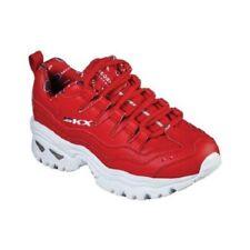 Mujer Skechers Energía - Retro Vision Zapatillas 13425 / Rojo / Blanco Nuevo