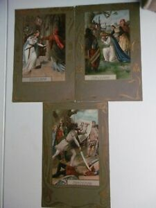 Wagner - LOHENGRIN - Set of 6 early chromolithographic scenes - rare