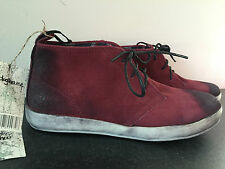 BNWT Older Boys Mens Sz 7 Rivers Doghouse Brand Burgundy Grunge Look Suede Boots