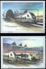 [SJ] Express Rail Link Malaysia 2002 Transport Train Locomotive Railway (ms) MNH