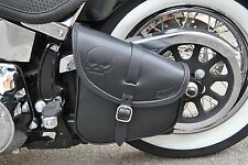 SADDLE BAG FOR HARLEY DAVIDSON SOFTAIL AND RIGID FRAME ITALIAN LEATHER&STYLE