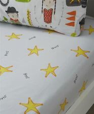 shériff étoiles gris jaune Mélange de coton bébé drap housse