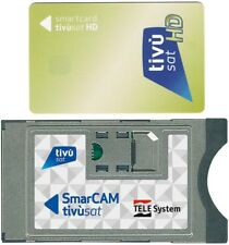 TivuSat GOLD Mediaset Smart Card inkl. HD TV SmarCAM CI CAM Modul Tivu Sat Karte