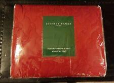 Jeffrey Banks Home Quilted Red Down Alternative Blanket King/Cal King NIP