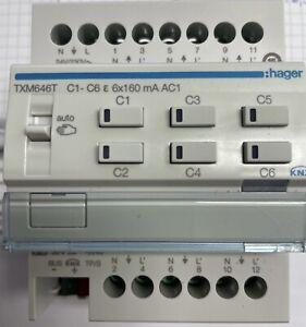Hager TXM646T Heizungsaktor 6fach KNX easy 24/230V Stellantrieb Triac